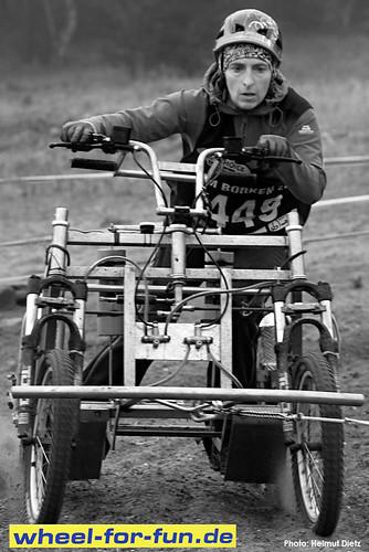 Wheel-for-fun Schlittenhunde Trainingswagen im Einsatz - IFSS Schlittenhunde WM 2011, Borken