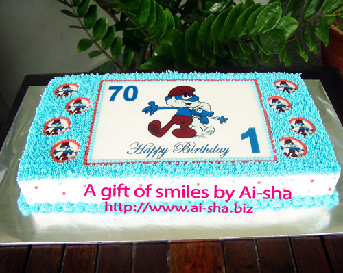 Birthday Cake Edible Image The Smurfs