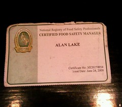 Food safety manager badge