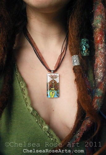 Dread Goddess art pendant
