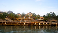 view of luxury hotel on the beach roatan honduras
