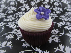 Carrot Cake Cupcake with Fondant Flower