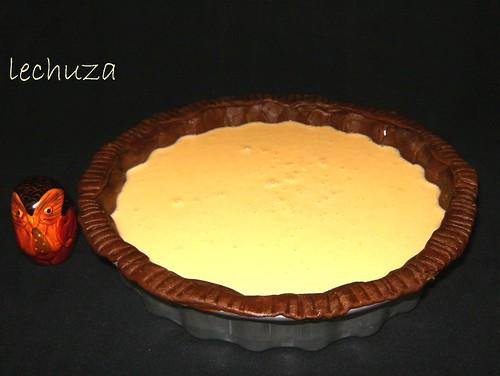 Tarta creme fraiche-verter en molde
