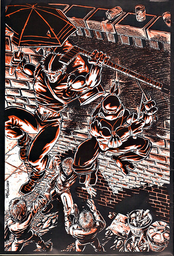 RAPHAEL, TEENAGE MUTANT NINJA TURTLE #1 { ORIGINAL MICRO SERIES } ii // Back cover art by Eastman (( 1985 ))
