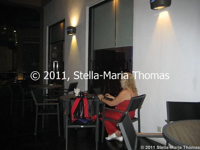 POUSADA DE MONG HA - WORKING ON THE TERRACE 004