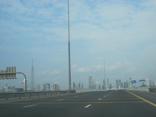 City Skyline From Highway