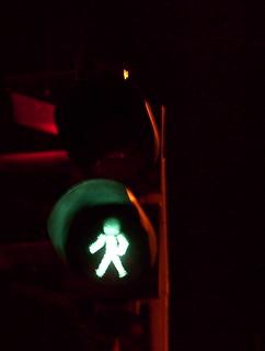 Semáforo polaco en verde