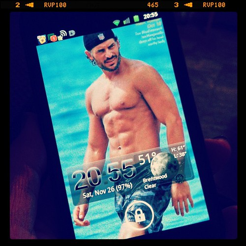 My phone's lock screen