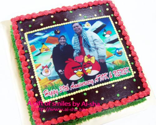 Birthday Cake Edible Image Angry Bird