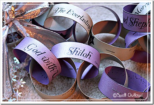 Names of Jesus Advent Chain (Photo from Spell Outloud)