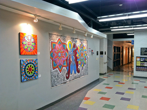 My featured artist wall for March 2012 at The Banana Factory