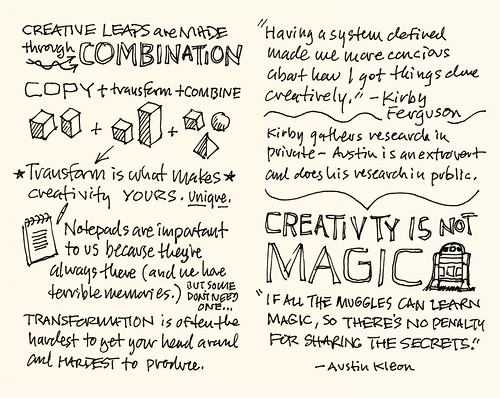 SXSW 2012 Sketchnotes: 13-14 Steal Like an Artist