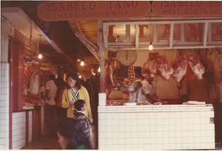 Meat Booth - Baguio Market - Feb 1974