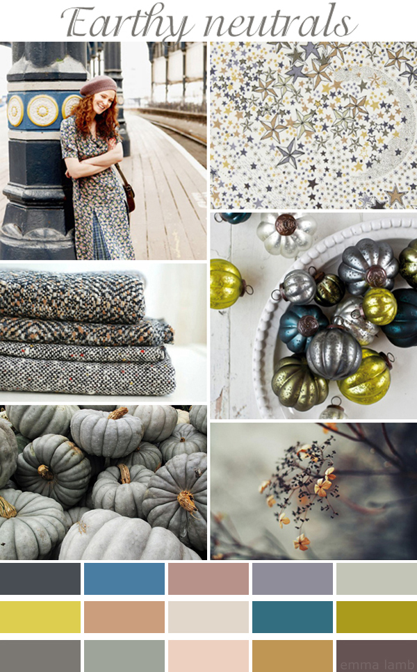 colour palette : earthy neutrals, curated by Emma Lamb as part of Celebrate Color