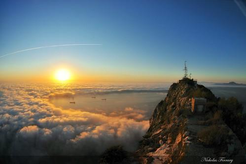 africa sea sky sun mist nature water fog clouds sunrise nikon europe wildlife ships gibraltar animalplanet d300s nikond300s nicholasferrary