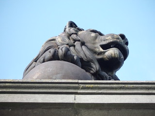 Image of Butte du Lion. closeup belgium lion waterloo 2011