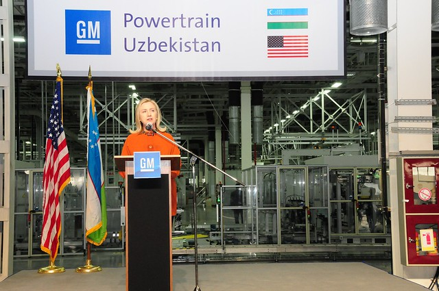 Secretary Clinton Delivers Remarks at GM Powertrain Factory from Flickr via Wylio