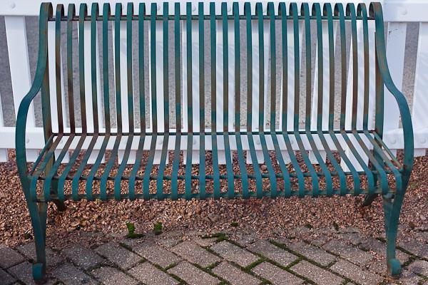 Fence, Bench, Bricks