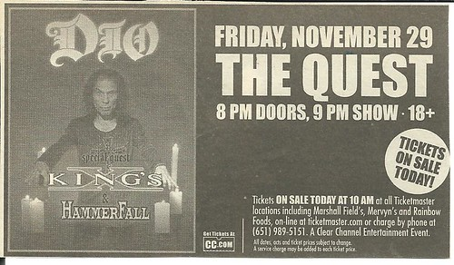 11-29-02 Dio @ Minneapolis, MN