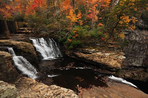 autumn fall waterfall alabama foliage explore desotofalls d300s n1110272248