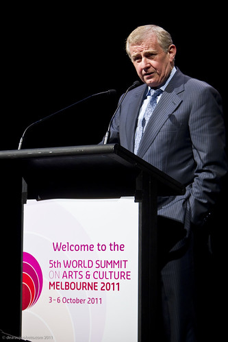 The Hon Mr Simon Crean, Australian Federal Minister for the Arts at the official opening of the 5th World Summit on Arts and Culture