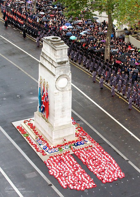 The Cenotaph, Whitehall, London Following the Remembrance Day Parade in 2010