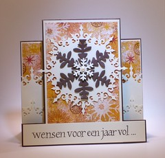 111031 Linda christmas Center Step Card Snowflake