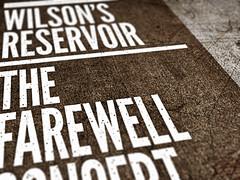 Wilson's Reservoir farewell show poster