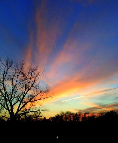 pink november blue sunset sky orange yellow tn clarksville 2011