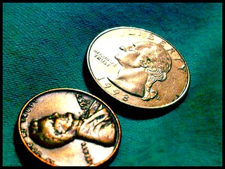 Quarter and Penny