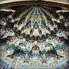 Beautiful Persian design, Mirhab at Friday Mosque - Yazd, Iran