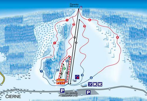 Makov - mapa sjezdovek