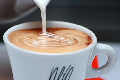 ¿Un cafe con leche?
