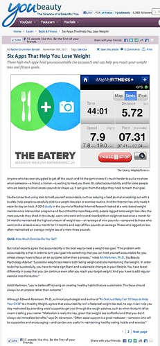 YouBeauty: Six Apps That Help You Lose Weight (11.9.2011)