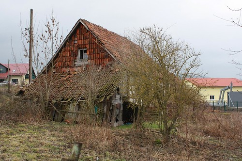 Verlassen, altes Fährhaus in Mihla an der Werra