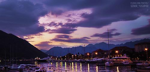 sunset montenegro kotor