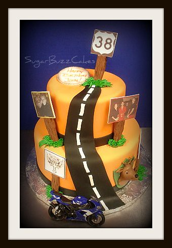 Motorcycle Themed Birthday Cakes