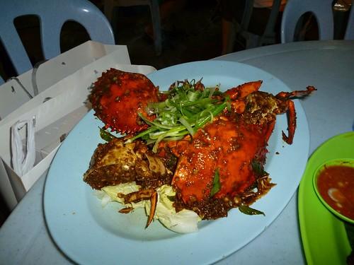 Black pepper crab - Jalan Alor, Bukit Bintang