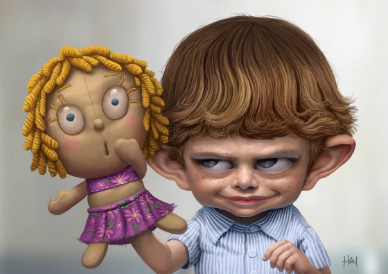 personajes hechos en 3D