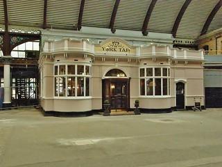 'The York Tap' Bar at York Railway Station, UK.