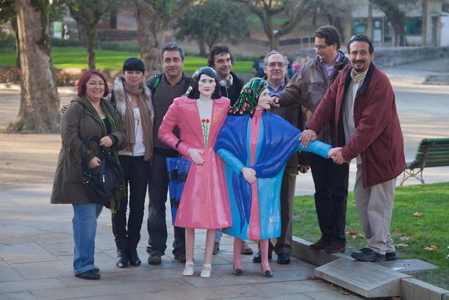 Juanvi, Margalida Capellà i chironians a Santiago 2011