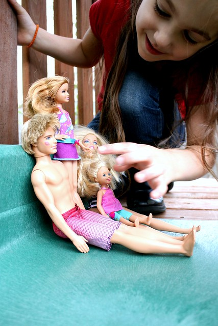Barbies on the Slide