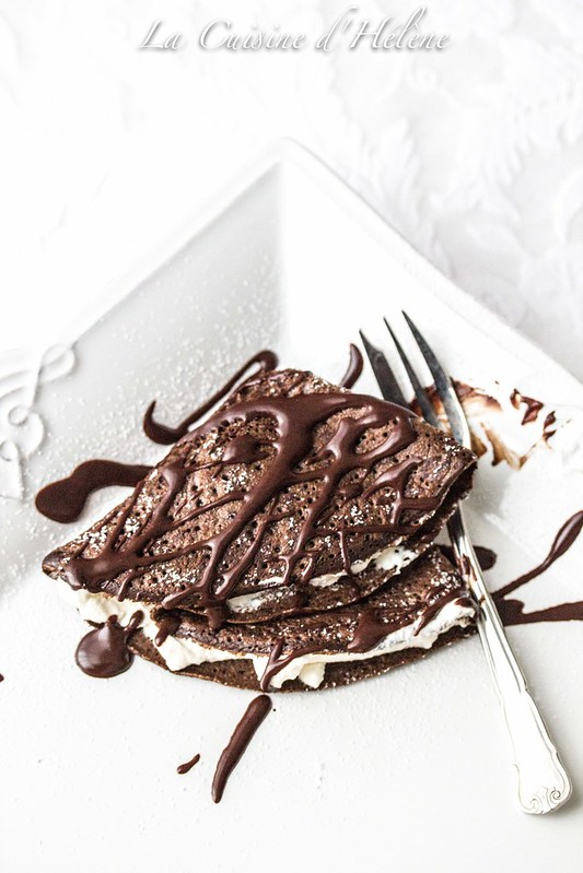 Chocolate crêpes with Chantilly Cream