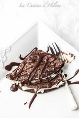 Chocolate crêpes with Chantilly Cream