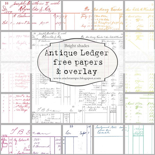 PREVIEW LEDGER B antique bright 12 inch mel stampz