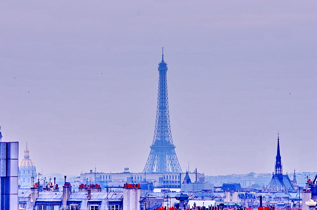 Paris, photo depuis le toit de l'Agence Delprat & Associés à La Bastille 11 la Tour Eiffel