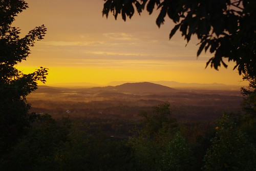 sky mountains yellow landscape virginia sunrisesunset