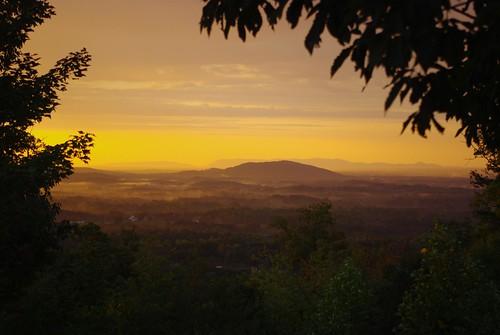 sky mountains yellow landscape virginia sunrisesunset