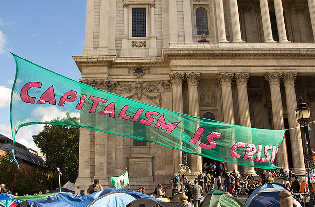 Capitalism is Crisis - occupation, St Paul's, London