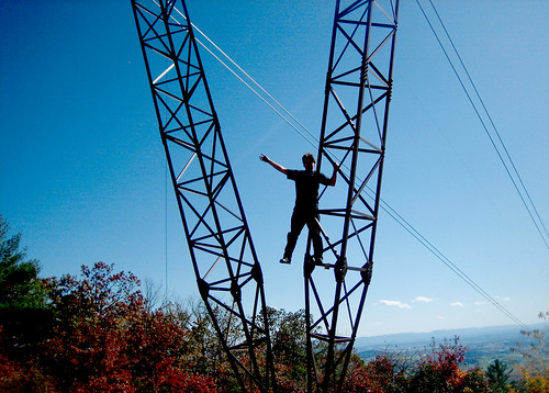 20111015 1314 - offroading - climbing the powerlines - Clint - IMG_3720